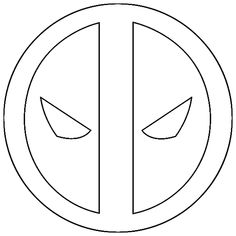 logo deadpool simple coloring pages printable and coloring book to print for free. Find more coloring pages online for kids and adults of logo deadpool simple coloring pages to print. Easy Coloring Pages, Coloring Pages To Print, Printable Coloring Pages, Coloring Sheets, Coloring Books, Boy Coloring, Cute Deadpool, Deadpool Cake, Deadpool Tattoo