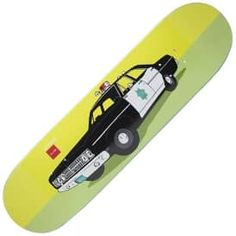 "Chocolate Skateboards X Huf SF Cop Car Skateboard Deck 8.5"""