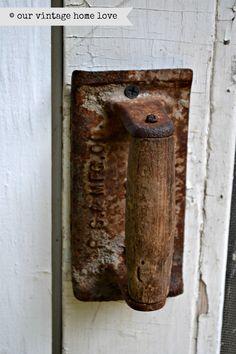 Old Trowel as a Door Handle