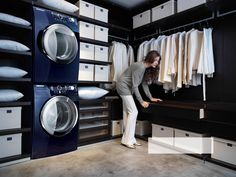 Oh my... how this would delight me!  Washer and Dryer in the closet!