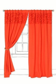 Upward Petals Curtain at Anthropologie.  Perfect for our colorful guest/kids room