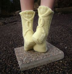 Ravelry: Talvenmaljat pattern by Lumi Karmitsa Knitted Slippers, Knitting Socks, Knit Socks, Knitting Projects, Leg Warmers, Ravelry, Creative, Pattern, Tropical Backyard