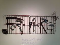 Kate Rotindo and friends piece spelling out Ft Pierce - their first welded piece