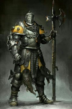 Human Fighter Knight - Pathfinder PFRPG DND D&D d20 fantasy