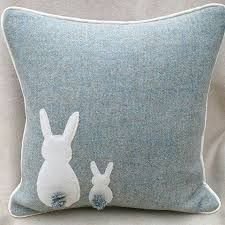 Items similar to harris tweed easter bunny cushion duck egg blue bunny cushion . on etsy Items similar to harris tweed easter bunny cushion duck egg blue bunny cushion … easter ideas . on etsy Fabric Crafts, Sewing Crafts, Sewing Projects, Quilting Projects, Blue Bunny, Sewing Pillows, Harris Tweed, Wool Applique, Easter Crafts