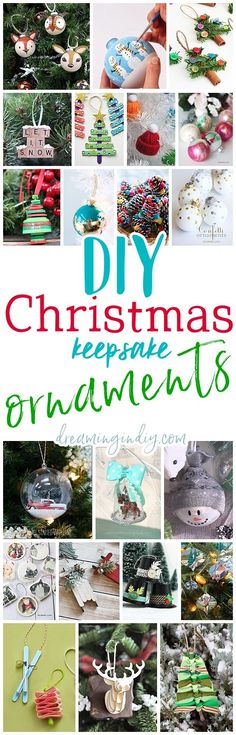 The Best DIY Christmas Tree Ornaments to Make - Easy Handmade Holiday Keepsakes fun holiday christmas craft activity ideas via Dreaming in DIY #diychristmasornaments #diyornaments #keepsakeornaments #handmadeornaments #christmascrafts #christmasornaments
