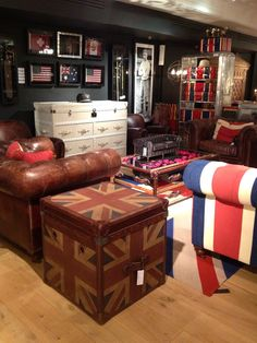 British flag trunk -- Inspiration from Timothy Oulton @ Harrods