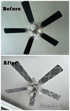 DIY Galm up a ceiling fan Batchelors Way