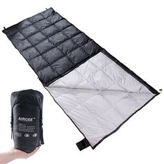 Aircee Ultralight Sleeping Bag with Compression Sack 5065 Degree Cool Weather 3 Season Lightweight Backpacking Sleep Sack for Camping Hiking Black *** Amazon most trusted e-retailer #CampingGears