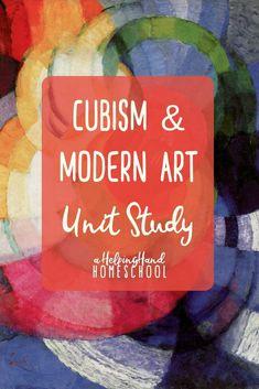 Frank Kupka, Cubism, and Modern Unit Study - Home Schooling Ideas High School Art, Middle School Art, 7 Arts, Cubist Art, Art Curriculum, Art Lessons Elementary, Teaching Art, Teaching Reading, Home Schooling