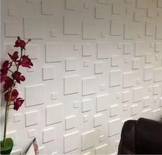 painel 3d revestimento de parede quadratto pvc 50x50 12pcs