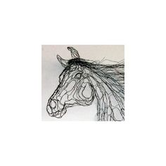 World Class Wire Sculpture by Elizabeth Berrien - Horse Heads ❤ liked on Polyvore
