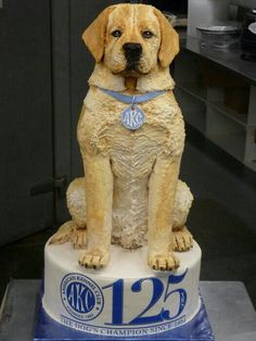 For AKC-american kennel club - Cake by Svetlana Unique Cakes, Creative Cakes, Gorgeous Cakes, Amazing Cakes, Cupcakes, Cupcake Cakes, Realistic Cakes, Puppy Cake, Fantasy Cake