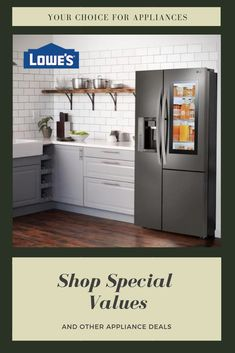 Upgrade your kitchen to dream status with stylish and modern appliances from Lowe's. Choose from our list of trusted brands for everything from ovens and ranges to dishwashers, washing machines, fridges, and so much more. Shop appliances at Lowe's today. Kitchen Appliances Brands, Kitchen Appliance Packages, Best Appliances, Cooking Appliances, Kitchen Gadgets, Dining Table In Kitchen, Kitchen Decor, Kitchen Ideas, Kitchen Inspiration