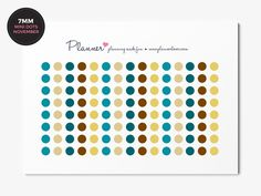 November Colors Erin Condren - 120 Mini Dots Planner Stickers - 7mm circles