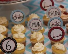 Bike Birthday Scooter Birthday Bike Party by thepaperblossomshop