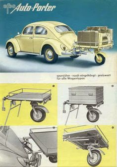 There are so many optional accessorries for Bugs made by Volkswagen and related. Vw Super Beetle, Vw Bugs, Carros Vw, Vw Caravan, Vw Variant, Van Vw, Auto Volkswagen, Volkswagen Germany, Vw Cabrio
