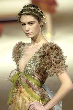 Christian Lacroix ~~~~   I want to copy this Mossy look for today...it's cold and rainy....