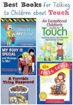 Here are some great childrens books to begin the conversation on appropriate touch to prevent child abuse. #parenting