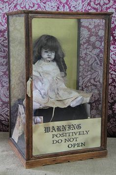 This is Gertrude The Haunted Doll resides in Ed & Lorraine Warrens haunted museum collection. Not as popular as Annabelle but a strong presence this Doll gives off. Southside Paranormal Society