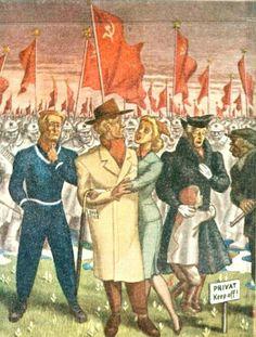 Propagandakort Harald Damsleth 1940-tallet