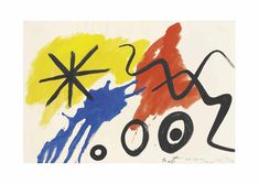 Alexander Calder gouache on paper Alexander Calder, Gouache, Drawings, Paper, Artist, Watercolors, 1980s, Ideas, Oil On Canvas