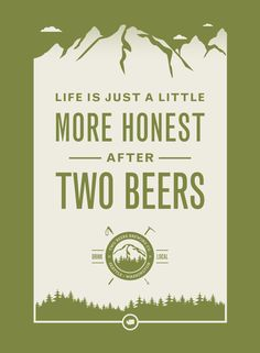Poster design for Two Beers Brewing Company, a brewery in Seattle