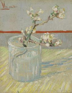 Sprig of Flowering Almond in a Glass, 1888, Vincent van Gogh, Van Gogh Museum, Amsterdam