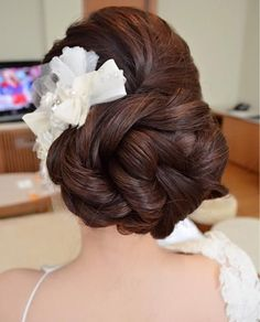 Fabulous Braided Bun With Flower