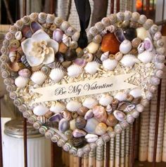 Be my Valentine shell heart.