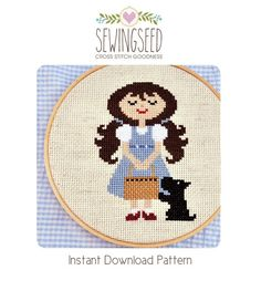 Dorothy and Toto Wonderful Wizard of Oz cross stitch por Sewingseed