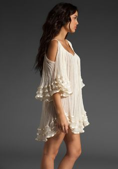 Open Shoulder Gypsy dress in white. I wouldn't wear this, but it's neato!