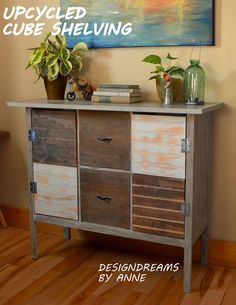 DesignDreams by Anne: Turn a Cube Storage Piece into an Amazing Console Table!