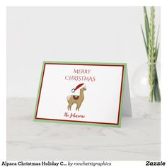 Alpaca Christmas Holiday Christmas Greeting Card
