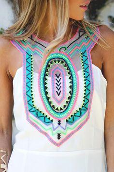boho, neon colors, bright colors, spring fashion by michael Passion For Fashion, Love Fashion, Fashion Outfits, Gypsy Fashion, Estilo Cool, Bohemian Mode, Looks Cool, Spring Summer Fashion, Dress To Impress