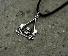 Assassins Creed 3D Skull Pirate Necklace //Price: $15.00 & FREE Shipping //     #assassins