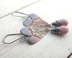 My Rustic Heart Earrings