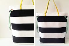 Stripes + Color Tote | 40 Awesome DIY Totes!