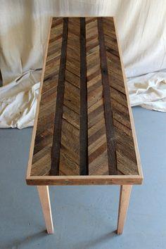 Reclaimed Barn Wood Coffee Table Pattened Arrow door newantiquity