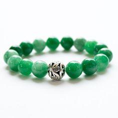 GREEN JADE BRACELETS Women accessories 10 mm by KaratLuckyStone