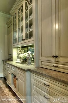 What a beautiful butler's pantry wall unit!! -- via Secrets of Segreto - Segreto Secrets Blog: