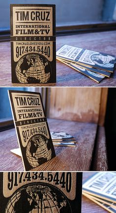 Letterpress Director Business Cards by MikeGalore, via Flickr