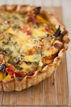 Roasted Vegetable Quiche (I would sub butternut squash for the pumpkin)