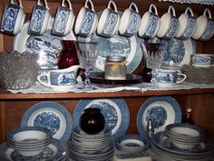 Currier and Ives Dishes. I have collected two sets...one for each daughter :)