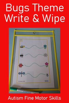 Looking for a Bugs Theme Write & Wipe activity? Download this Autism Fine Motor Skills set today from Curriculum For Autism for your classroom or home school