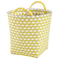 """Small Strapped for Storage Bin (Yellow)  