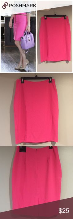 Hot Pink Skirt 97% Polyester, 3% spandex thinner material for warmer climates. 23 inches long. Gives u a Nice shape. Banana Republic Skirts Pencil