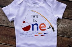 I'm the Big One First Birthday Onesie- Fishing 1st Birthday- Fish First Birthday Outfit- 1st Birthday- Fishing- Big One- One Oneise- Prop by MySweetPeaCouture on Etsy