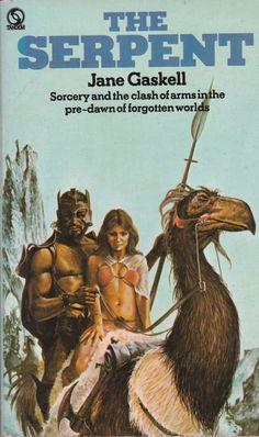 Jane Gaskell - The Serpent Fantasy Heroes, Fantasy Male, Dark Fantasy Art, Fantasy Girl, Pulp Fiction Art, Pulp Art, Fiction Novels, Science Fiction, Fantasy Book Covers