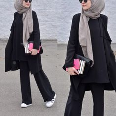 Hijab Fashion palazzo pants with hijab- How to style Adidas shoes with hijab www.justtrendygir Hijab Fashion Sélection de looks tendances spécial voilées Look Descreption palazzo pants with hijab- How to style Adidas shoes with hijab www. Hijab Fashion 2016, Muslim Fashion, Modest Fashion, Fashion Outfits, Fashion Styles, Style Fashion, Fashion 2020, Hijab Fashionista, Hijab Outfit